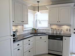 Kitchen Kitchen Backsplash Ideas Black Granite by Kitchen Cool Kitchen Backsplash For White Cabinets Small White