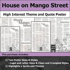 house on mango street theme quotes house on mango street visual theme and quote poster for bulletin