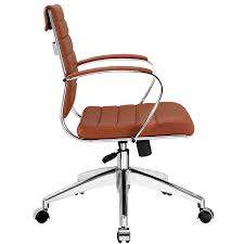Midcentury Desk Chair Amazon Com Modway Jive Ribbed Mid Back Executive Office Chair