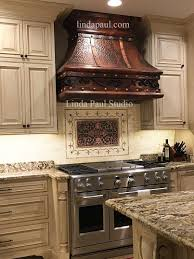 kitchen picture of aspect 3x6 brushed copper short grain metal