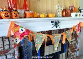 glow in the dark halloween bunting banner