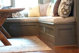 Bench Seating With Storage by Grey Stained Wood Corner Nook Bench With Storage Using White