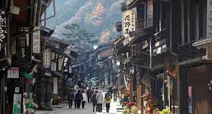japanese town narai juku is a historical japanese town from hundreds of years ago