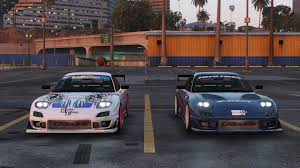 rx7 mazda rx7 c west add on replace livery template gta5