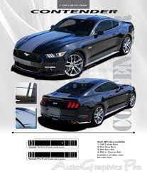 decals for ford mustang 2015 2017 ford mustang gt center racing stripes contender 3m pro
