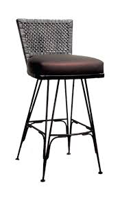 impressive wood and metal bar stools showing dazzling design to