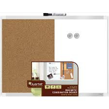 shop quartet 23 in w x 17 5 in h magnetic cork dry erase and