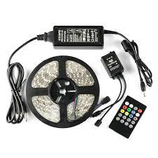 led light strips kit 16 4ft 3528 smd waterproof color changing led strip full kit with