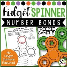 fidget spinner theme fact family number bond write on wipe