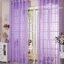 Purple Curtains Decorative Contemporary Purple Solid 2 Panels Custom Sheer
