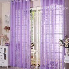 Purple Sheer Curtains Decorative Contemporary Purple Solid 2 Panels Custom Sheer