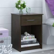 ameriwood 1 drawer wood nightstand in saint walnut