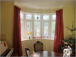 bay window curtain rod in ingenious mounting