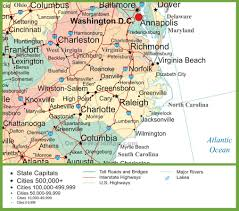 map of virginia map of virginia and carolina