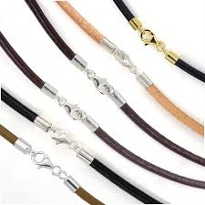 cord necklace clasp images Sterling silver 3mm round genuine leather cord necklace bracelet jpg