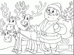 unbelievable printable christmas coloring pages kids santa