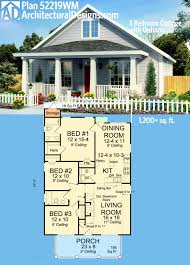 plan 52219wm 3 bedroom cottage with options cottage house