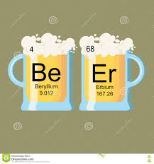Beer Periodic Table Periodic Table Of Beer Stock Vector Image 78851498