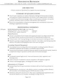 Objective For Resume Sample by Resume For A Senior Manager Of Operations Susan Ireland Resumes