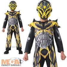deluxe bumble bee boys fancy dress transformers 4 childrens kids