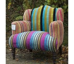 Velvet Armchair Sale Multi Stripe Velvet Patchwork Armchair