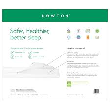 Standard Size Crib Mattress Dimensions by Sleep On The Newton Crib Mattress And Toddler Bed Mattress