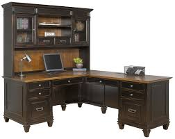 Bush Desk With Hutch by Kathy Ireland Home By Martin Furniture Hartford 3 Piece L Shaped