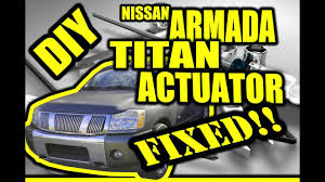 nissan titan yellow fog light easy diy nissan armada titan actuator knocking clicking fix youtube