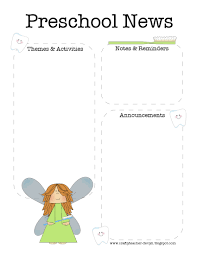 the crafty teacher preschool and pre k dentist newsletter templates