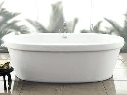 solid surface bathtub lithocast freestanding bath kohler