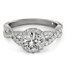 engagement rings sale images 14k white gold round entwined split shank diamond engagement ring jpg