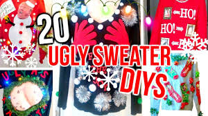 20 diy ugly christmas sweater costume ideas cheap u0026 easy youtube