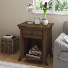 Gray Nightstands Oakridge Nightstand End Table By Altra Homestead Oak Walmart Com