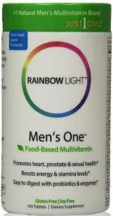 rainbow light vitamins mens rainbow light mens one energy multivitamin 150 tablets vitamin