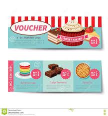 bakery voucher discount template design stock vector image 72740911