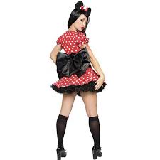 Minnie Mouse Womens Halloween Costume Aliexpress Buy Red Minnie Mouse Dress Halloween
