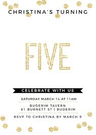 5th birthday invitations designs by creatives printed by paperlust