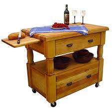 Kitchen Island With Butcher Block Top by Movable Kitchen Islands Rolling On Wheels Mobile
