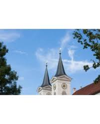 church steeples hot bargains on laminated poster monastery church monastery