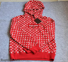 stock wu 159 pls contact before order supreme hoodie red
