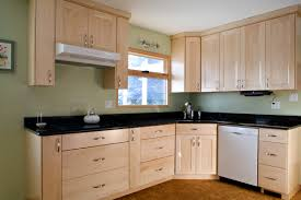 Kitchens With Maple Cabinets Birch Wood Black Raised Door Kitchen Cabinet Knob Placement