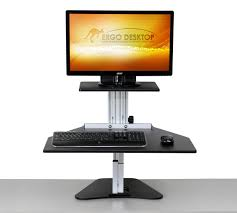adjustable monitor stand for desk kangaroo adjustable height desk ergo desktop