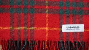 tartan vs plaid vis vires highlands scarf collection cameron clan mod