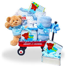 personalized basket the all boy welcome home radio flyer wagon gift basket