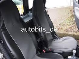siege smart roadster housses housses de siège gris matière cuir synthétique pour smart