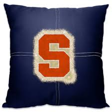Bed Bath And Beyond Syracuse Syracuse University 18 Inch Letterman Toss Pillow