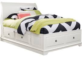 Oberon White 3 Pc Full Sleigh Bed With 6 Drawer Storage Full