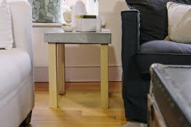 How To Build A Wood End Table by How To Make A Wood And Concrete End Table Danmade Watch Dan