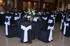 black and white chair covers classic black and white wedding dominion house weblog
