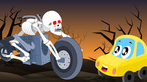 Cartoon Halloween Monsters Little Red Car Rhymes Halloween Monsters Scary Song Little